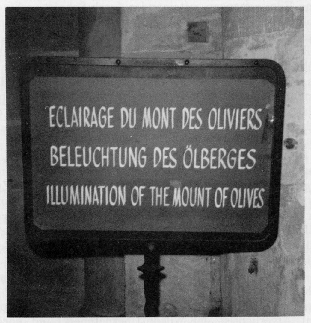 Eclairage du Mont des Oliviers | Beleuchtung des Ölbergs | Illumination of the Mount of Olives, Bild: © Melusine Huss.